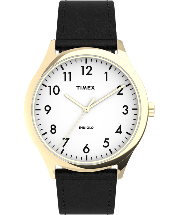 Modern Easy Reader 40mm Leather Strap Watch large