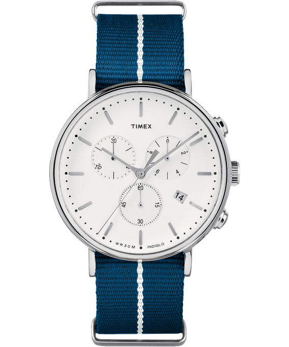 Fairfield Chronographe 41 mm grande, bracelet en nylon