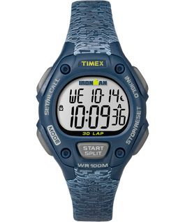IRONMAN Classic 30 Mid-Size 34mm Patterned Resin Strap Watch Blue/Gray large