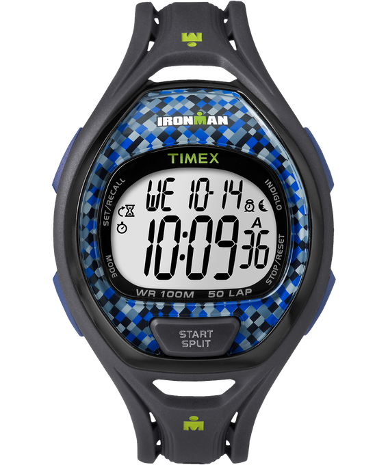 IRONMAN Sleek 50 Full-Size 42mm Resin Strap Watch Blue large
