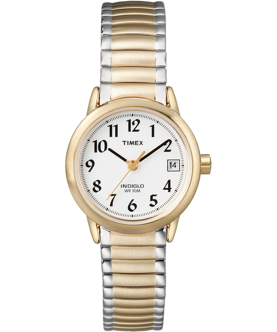 Easy Reader 25mm Stainless Steel Watch with Date Two-Tone/White large