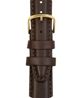 18mm Mens Leather Strap Brown large