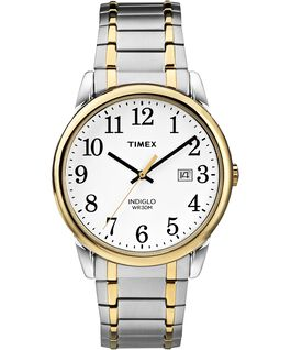 Easy Reader 38mm with Date Stainless Steel Watch Expansion Band Two-Tone/White large
