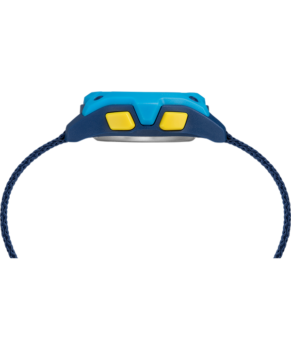 Kid's Digital 35mm Double Layer Fabric Strap Watch Blue/Yellow large