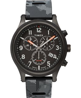 Allied LT Chronograph 42mm Silicone Strap Watch Black large