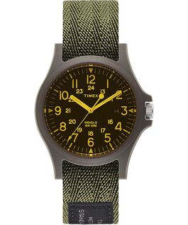 Acadia 40mm Fabric Strap Watch with Colored Lens Green/Black large