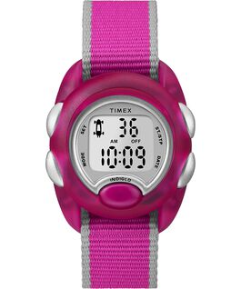 Youth Digital 34mm Fabric Strap Watch Pink large