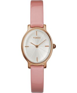Milano Oval 24mm Patent Leather Watch Rose-Gold-Tone/Pink/Silver-Tone large