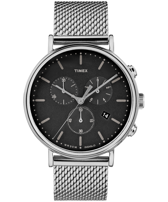 Fairfield Chronographe 41 mm grande, acier inoxydable
