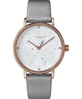 Celestial Opulence 37mm Textured Strap Watch Rose-Gold-Tone/Gray large