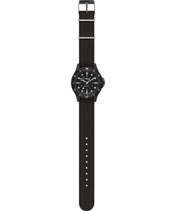 Navi Harbor 38mm Fabric Strap Watch Black/Black large