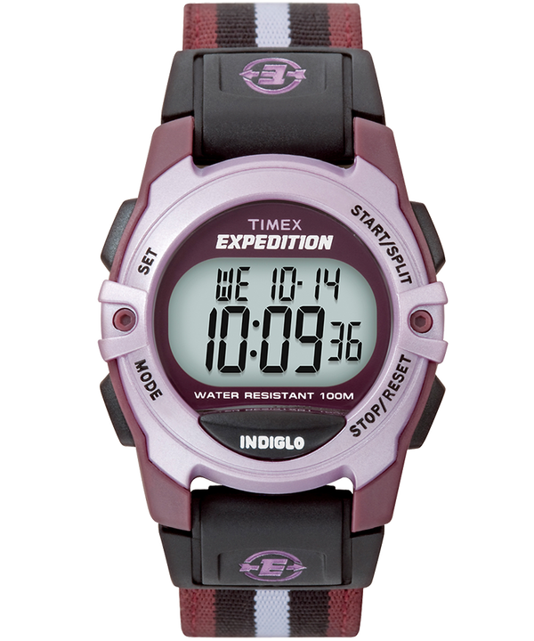 Expedition Chrono-Alarm-Timer 33mm Fabric Strap Watch Purple large
