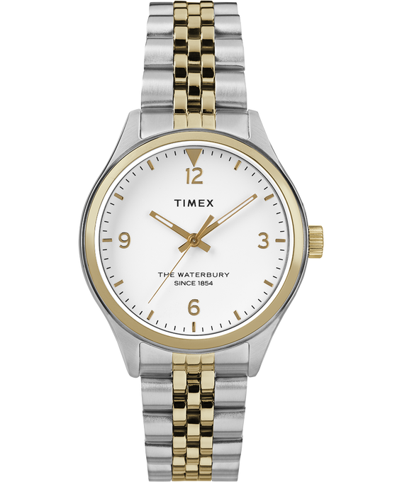 Waterbury Classic 34mm Watch Stainless Steel Two-Tone/White large