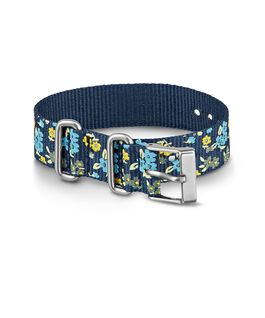16mm Patterned Nylon Strap Blue large
