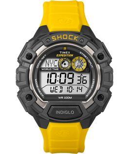 Expedition Global Shock 48mm Resin Strap Watch Black/Yellow/Gray large