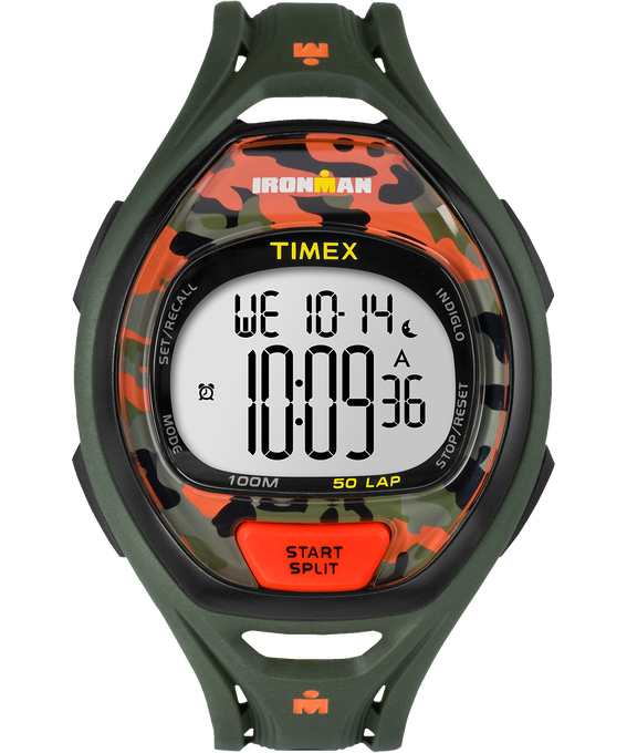 IRONMAN Sleek 50 Full-Size 42mm Resin Strap Watch Green large