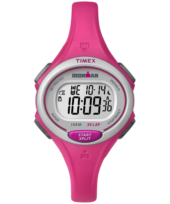 IRONMAN Essential 30 Mid-Size 35mm Resin Strap Watch Pink/Black large