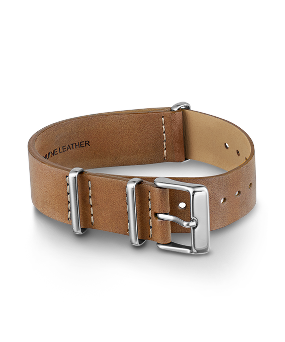 18mm Slip Thru Leather Strap 1 Champagne large