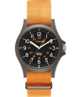 Acadia 40mm Fabric Strap Watch Green/Orange/Black large