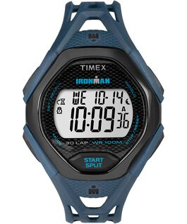 IRONMAN Sleek 30 Full-Size 42mm Resin Strap Watch Blue/Black large
