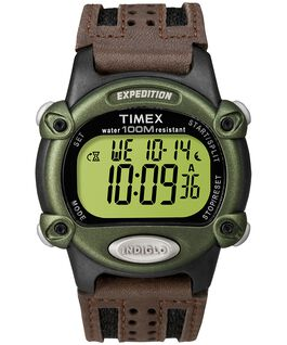 Expedition Chrono-Alarm-Timer 39mm Nylon Strap Watch Black/Brown/Green large