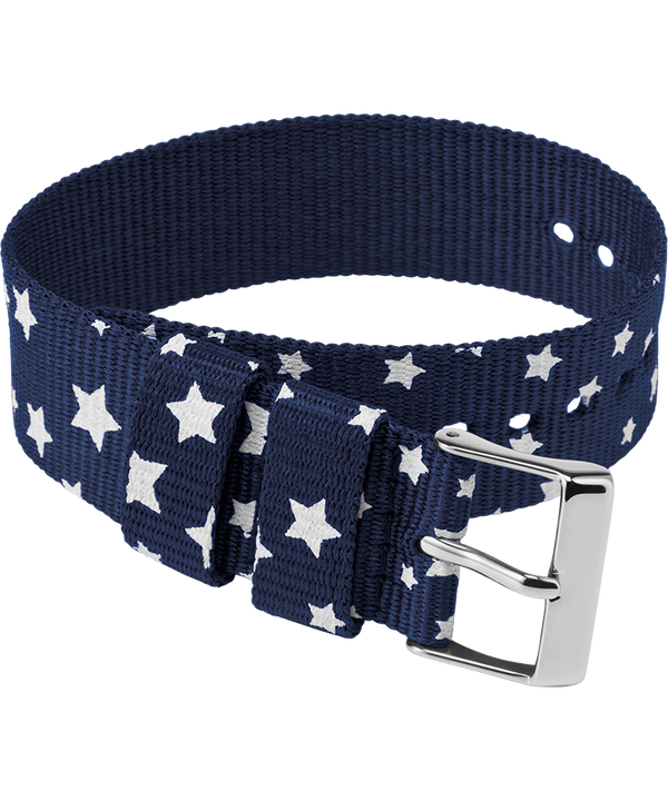 20mm Fabric Single Layer Slip Thru Strap with Stars large