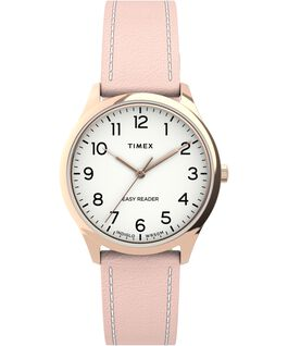 Easy Reader Gen1 32mm Leather Strap Watch Rose-Gold-Tone/Pink/White large
