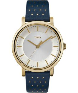 Originals 38mm Leather Watch Gold-Tone/Blue large