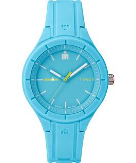 IRONMAN 38mm Silicone Strap Watch Blue/Green large