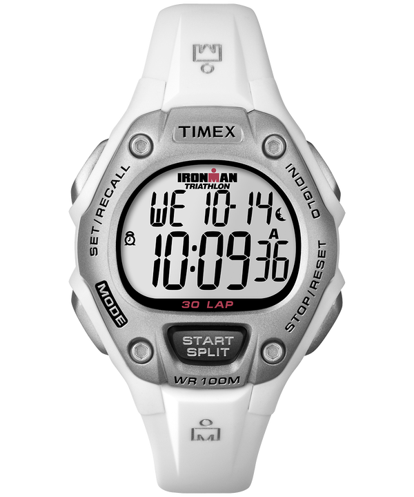 IRONMAN Classic 30 Mid-Size Resin Strap Watch White/Silver-Tone large