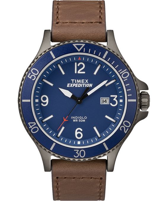 Expedition Ranger 43 mm grande, bracelet en cuir