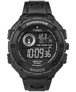 Expedition Vibe Shock 50mm Resin Strap Watch Black/Gray large