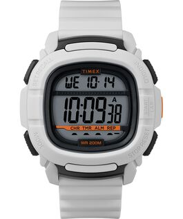 BST 47mm Silicone Strap Watch White/Silver-Tone large