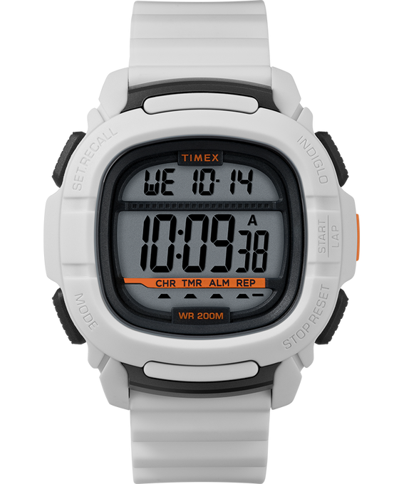 Boost 47mm Silicone Strap Watch White/Silver-Tone large