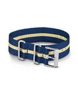 Grand bracelet en nylon 2 20 mm bleu