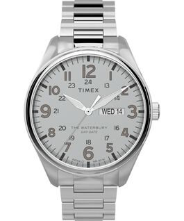Waterbury Traditional 42mm Stainless Steel Bracelet Watch Stainless-Steel/Silver-Tone large
