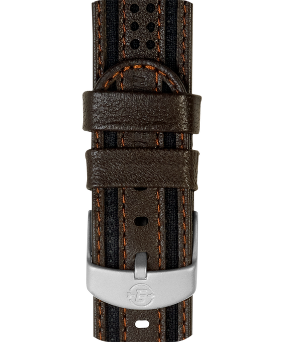 18mm Nylon with Leather Strap Brown large