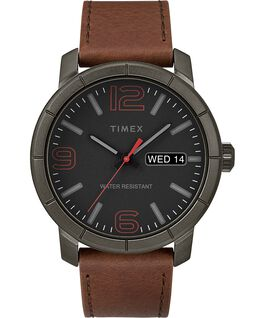 Mod44 44mm Leather Watch Black/Brown large