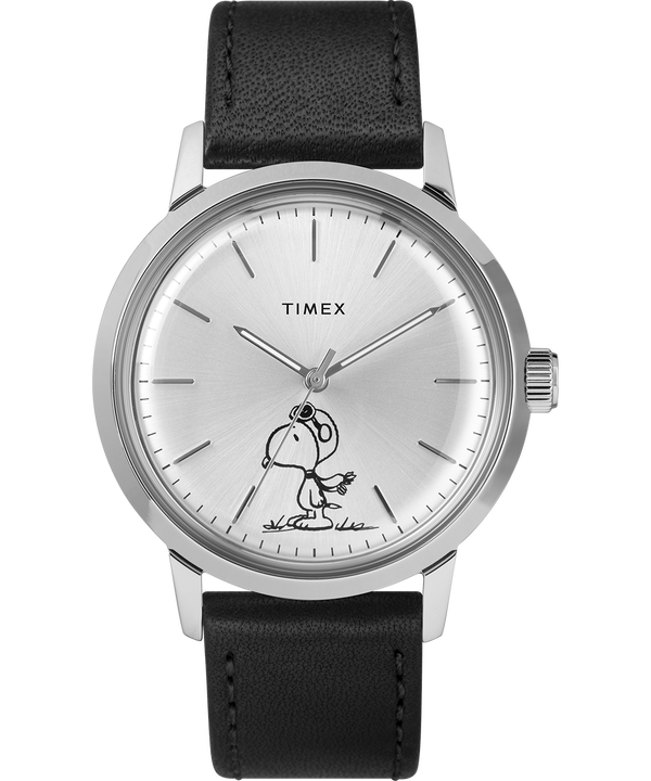 Marlin® 40mm Automatic Featuring Snoopy Leather Strap Watch  large