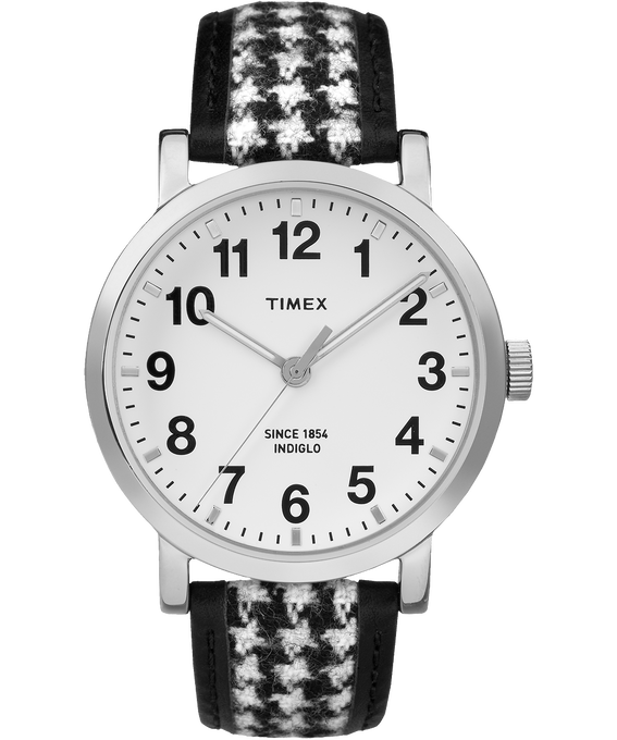 Original Houndstooth 40mm Watch Silver-Tone/Black/White large