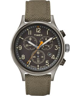 Allied Chronograph 42mm Fabric Strap Watch Gray/Green/Black large