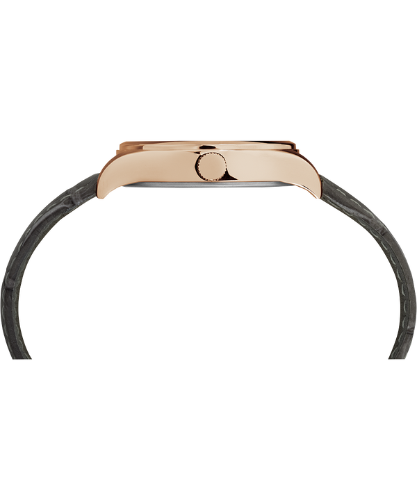 Waterbury Traditional 34mm Leather Strap Watch Rose-Gold-Tone/Gray/White large