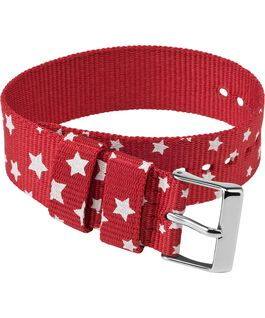 20mm Fabric Single Layer Slip Thru Strap with Stars Red large