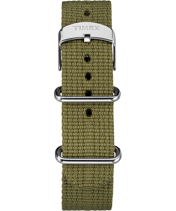 Timex x Todd Snyder Military Inspired 40mm Fabric Strap Watch Silver-Tone/Green/Black large