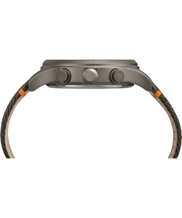 Allied 42mm Fabric Strap Watch Grey/Olive large