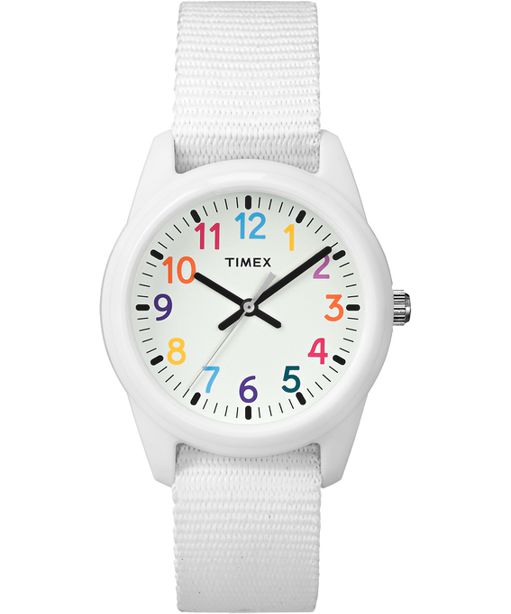 Kids Analog 30mm Nylon Strap Watch White large
