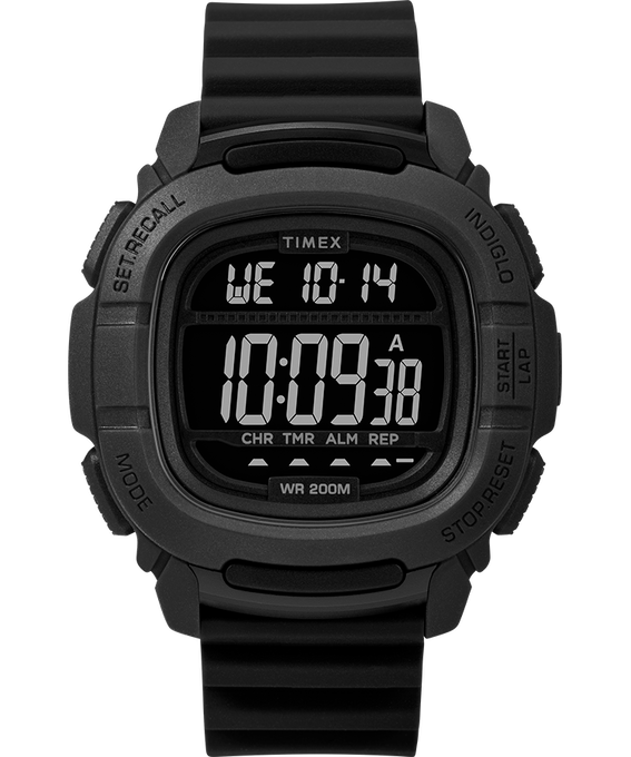 Boost 47mm Silicone Strap Watch Black large