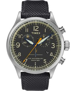 Waterbury Traditional Chronograph 42mm Fabric Watch Stainless-Steel/Black large