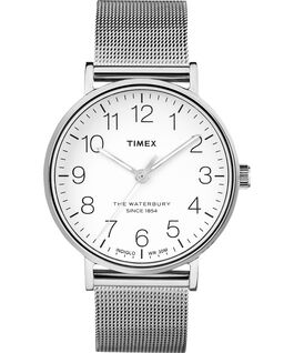 Waterbury Classic 40mm Stainless Steel Mesh Band Watch Stainless-Steel/White large
