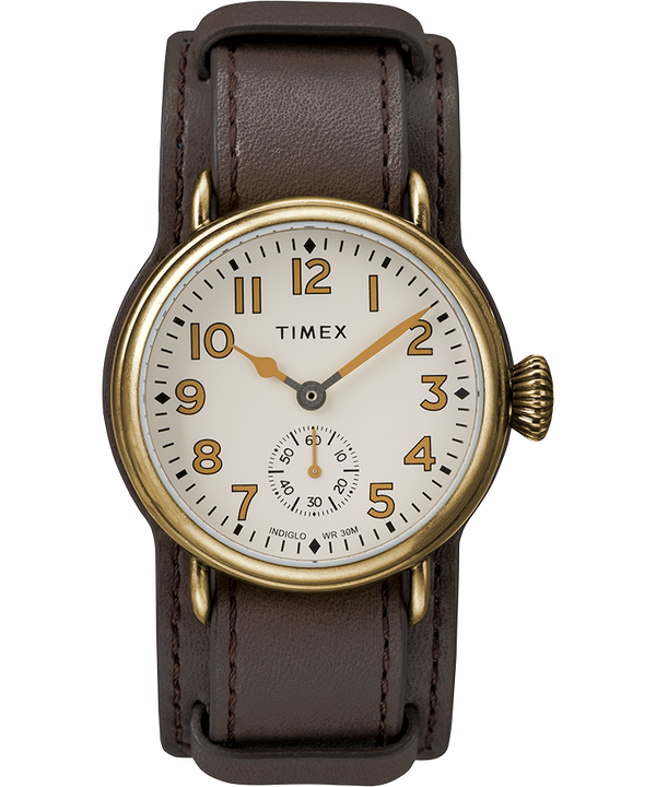 Welton 38mm Leather Strap Watch  large